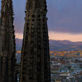 La Sagrada Familia al capvespre (after Pere Vivas)