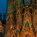 La Sagrada Familia de nit II (after Pere Vivas)
